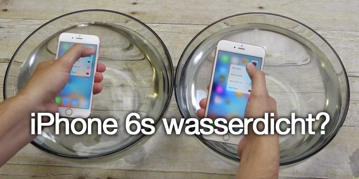 iphone 6s wasserdicht iphone berlebt 1 stunde im wasserbad. Black Bedroom Furniture Sets. Home Design Ideas