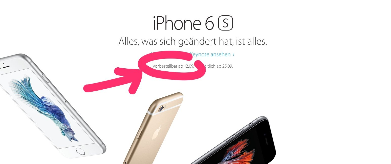 iphone 6s vorbestellung bei telekom o2 vodafone und apple startet update. Black Bedroom Furniture Sets. Home Design Ideas