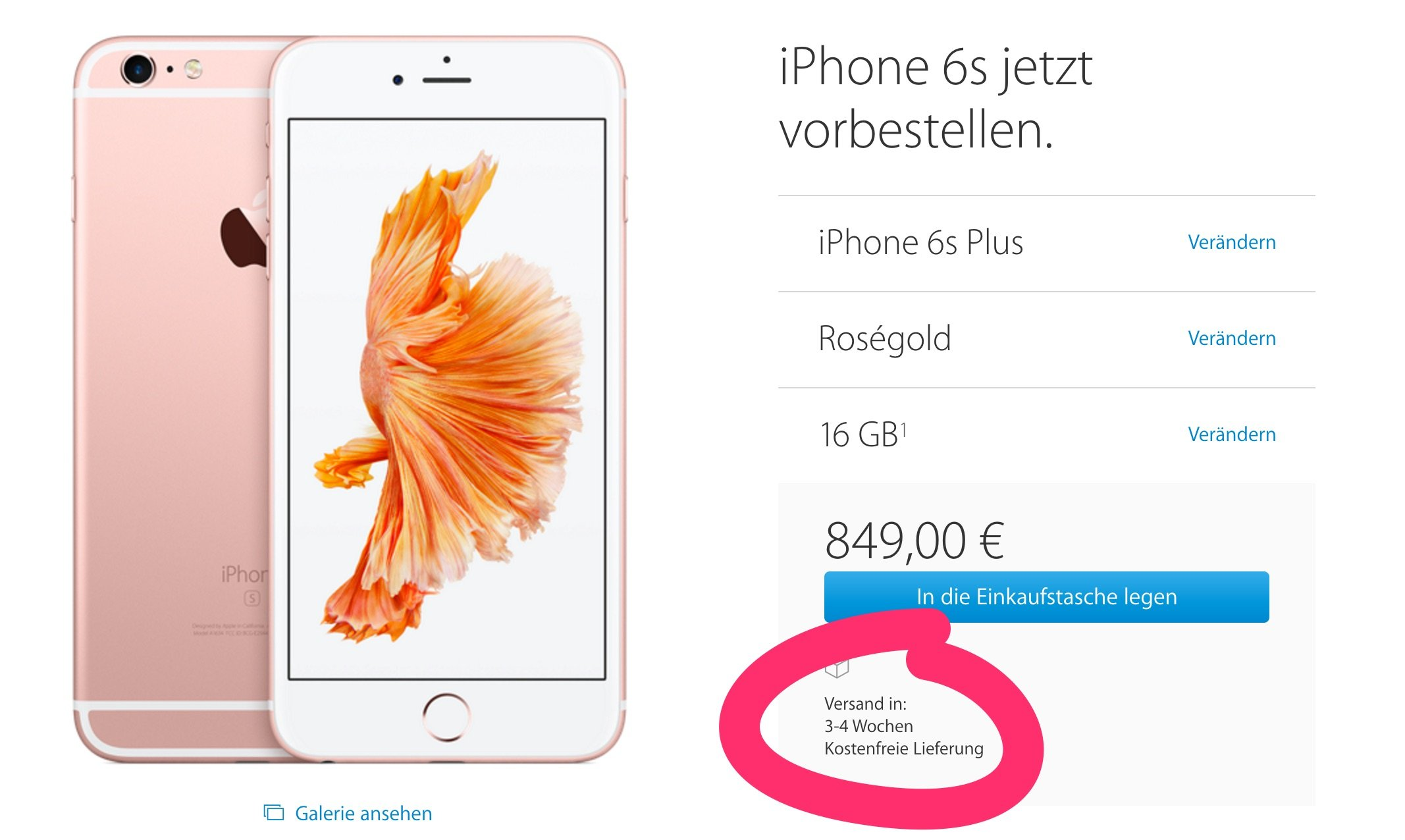Iphone  Rosegold Kaufen