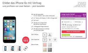 Angebote iPhone 6s bei O2 mit Vertrag