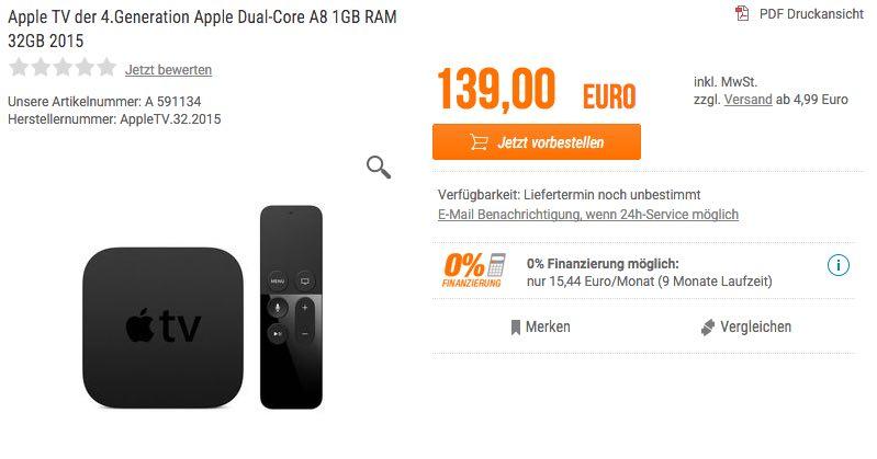 Neues Apple TV 4 kostet 139 Euro: Preise für Deutschland geleakt? 4