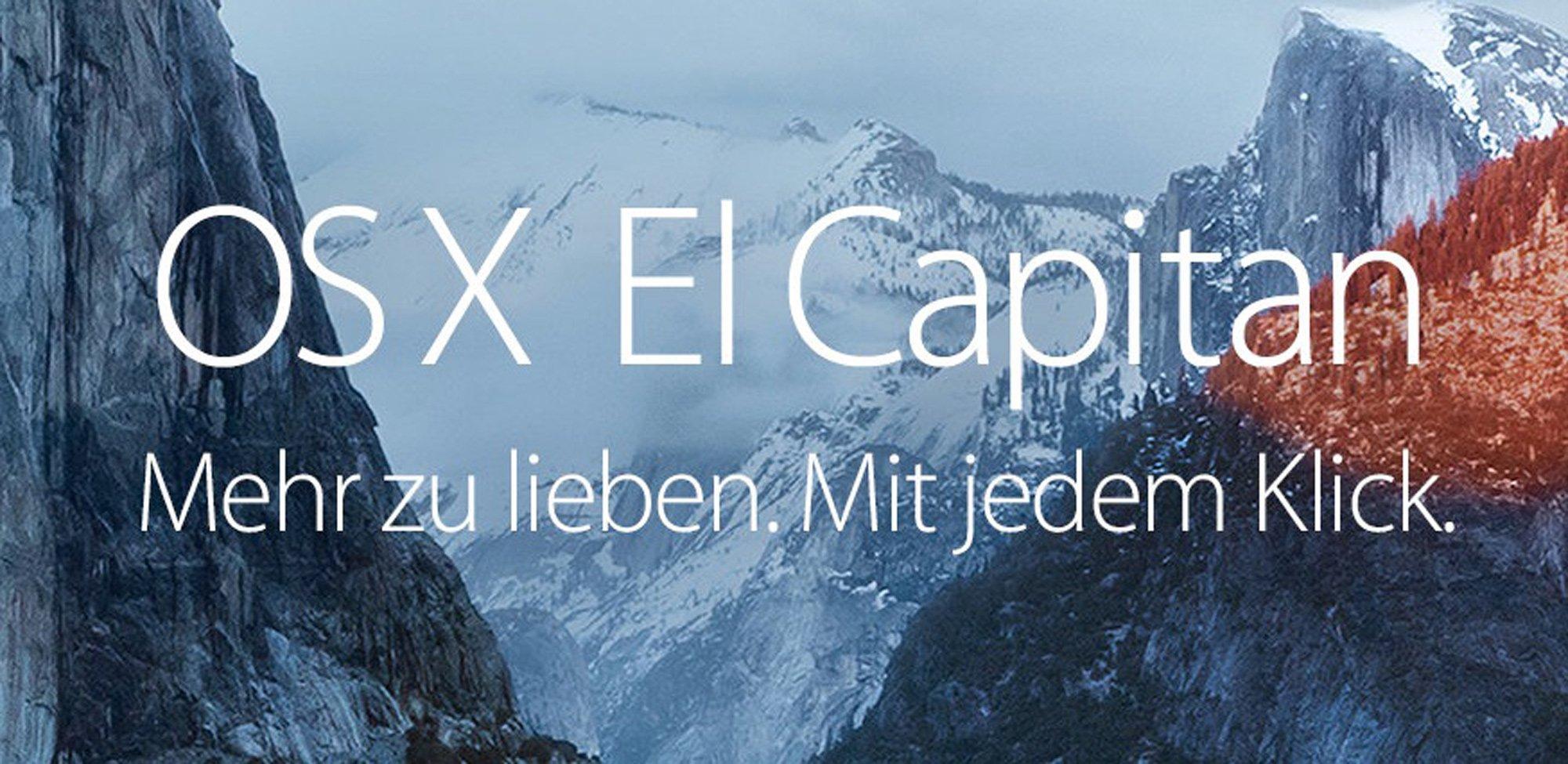Apple El Capitan OS X 10.11.1 Update verfügbar 1