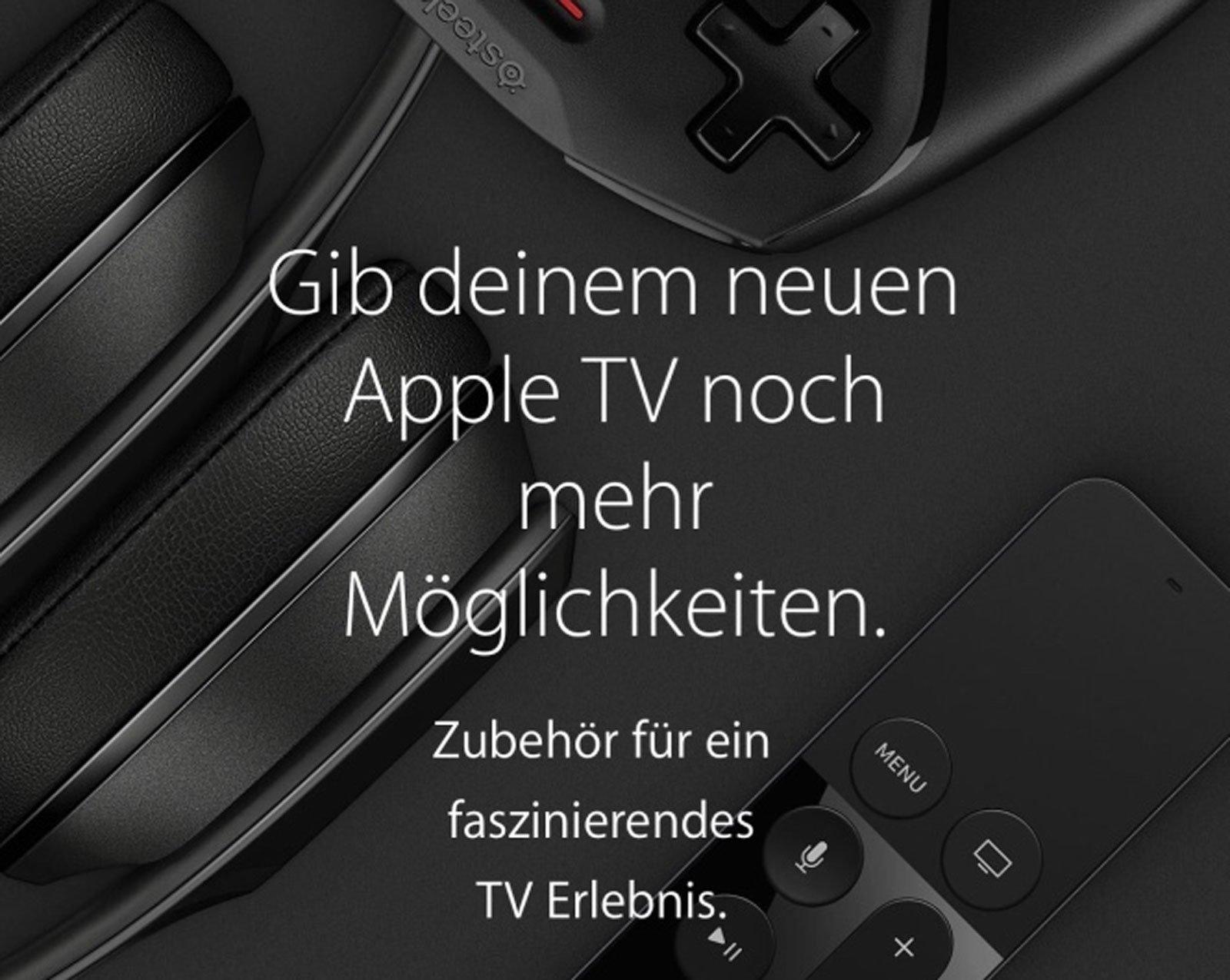 Apple TV 4 bestellen, neues Zubehör (Game Controller, Siri Remote) fürs neue AppleTV! 1