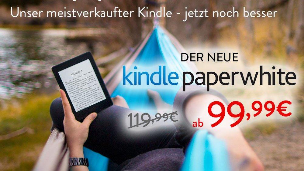 Neuer Kindle Paperwhite billiger: Amazon reduziert Preis des Kindle Paperwhite 2015 2