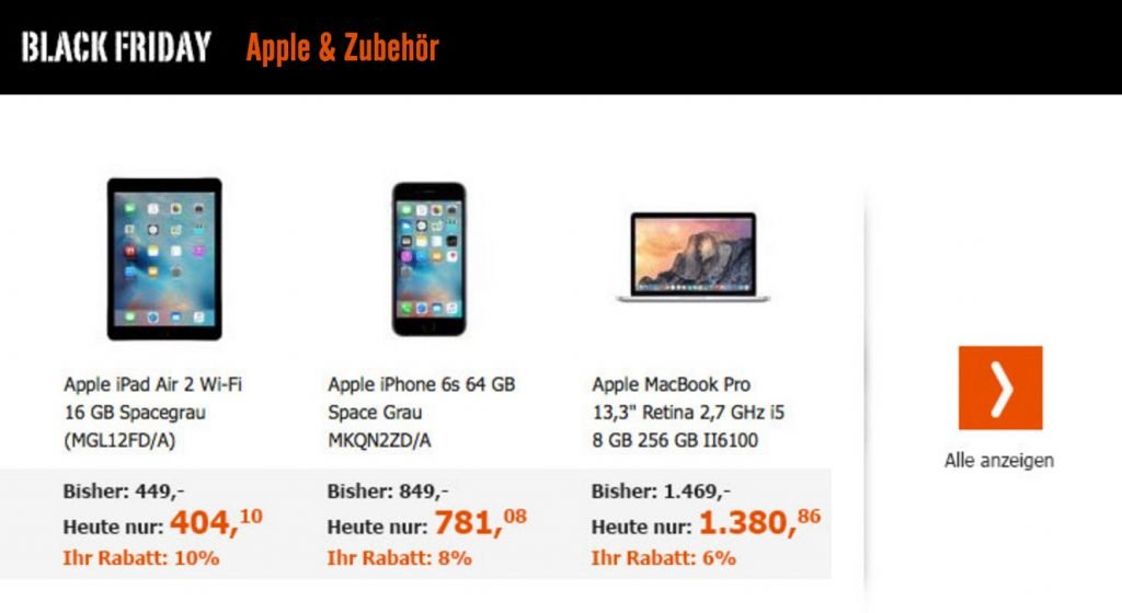 iPad Pro 10% billiger: Apple Black Friday Deals bei Cyberport