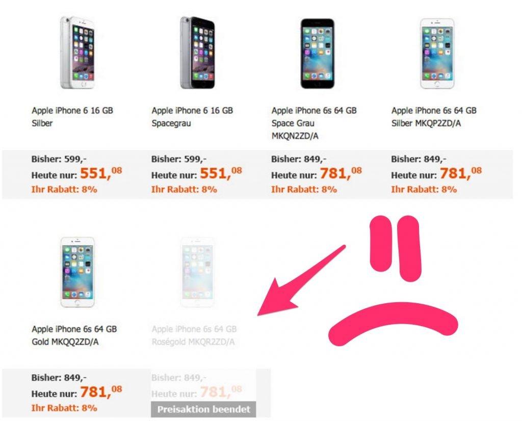 Black Friday 2015: NUR Cyberport mit iPhone 6s Rabatt?!
