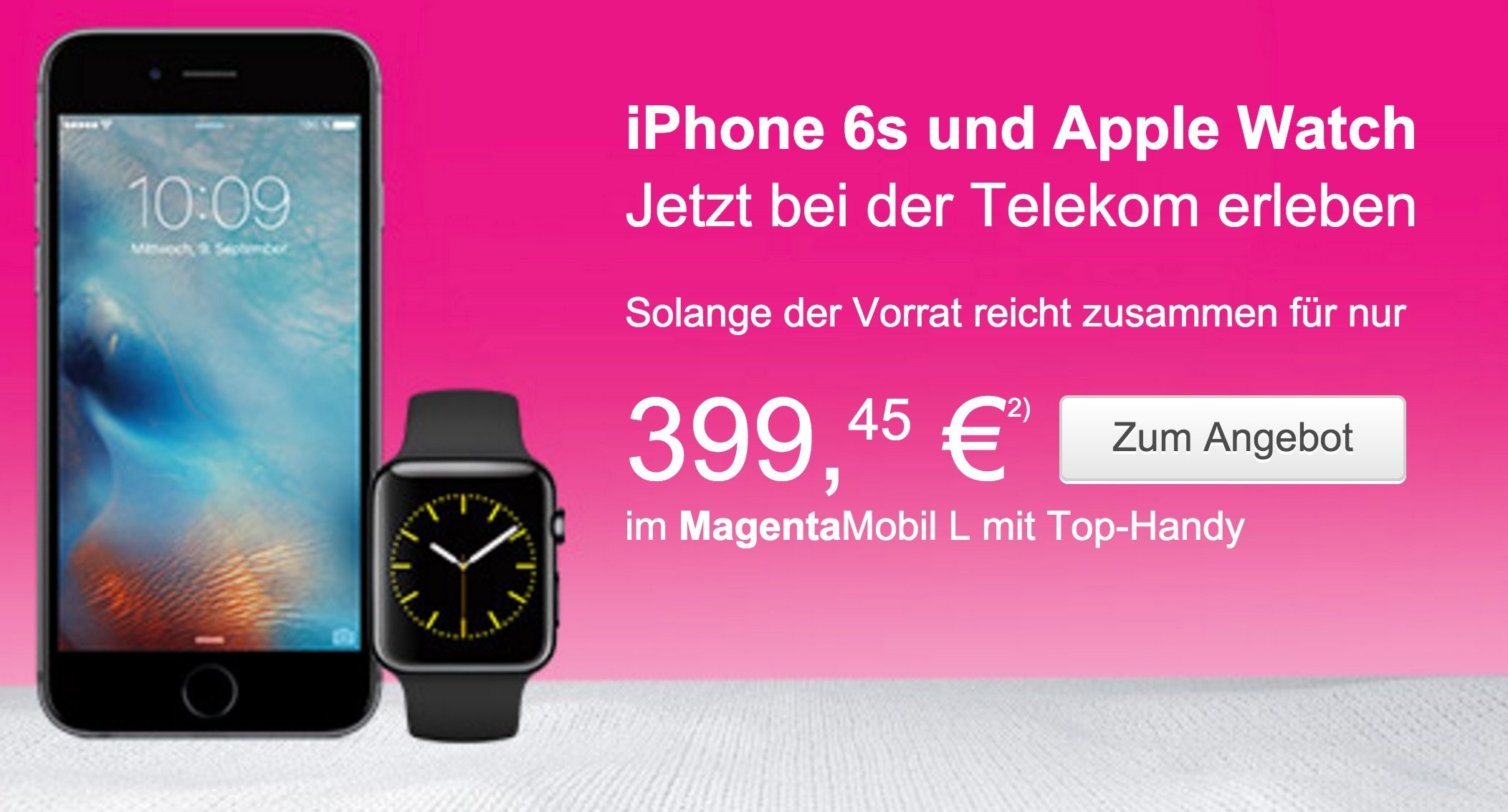 Apple Bundle der Extraklasse: iPhone 6s und Apple Watch bei Telekom 7