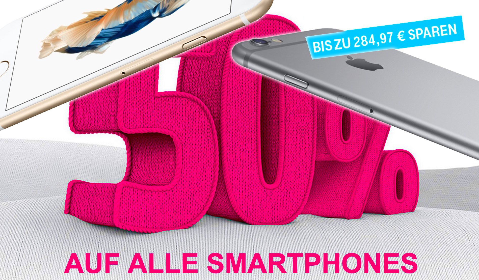iPhone 6s Telekom Aktion: alle Smartphones (auch iPhone) 50% billiger 6