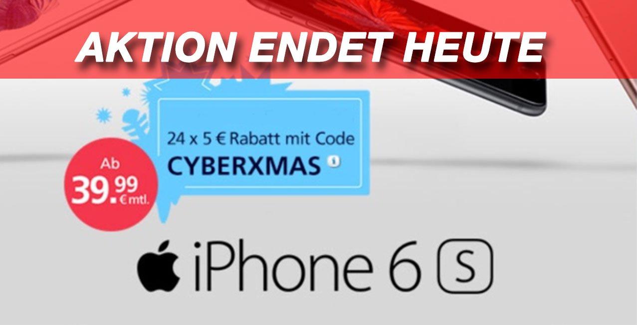 iPhone 6s bei O2 mit Gutschein-Code billiger (AKTION ENDET HEUTE) 5