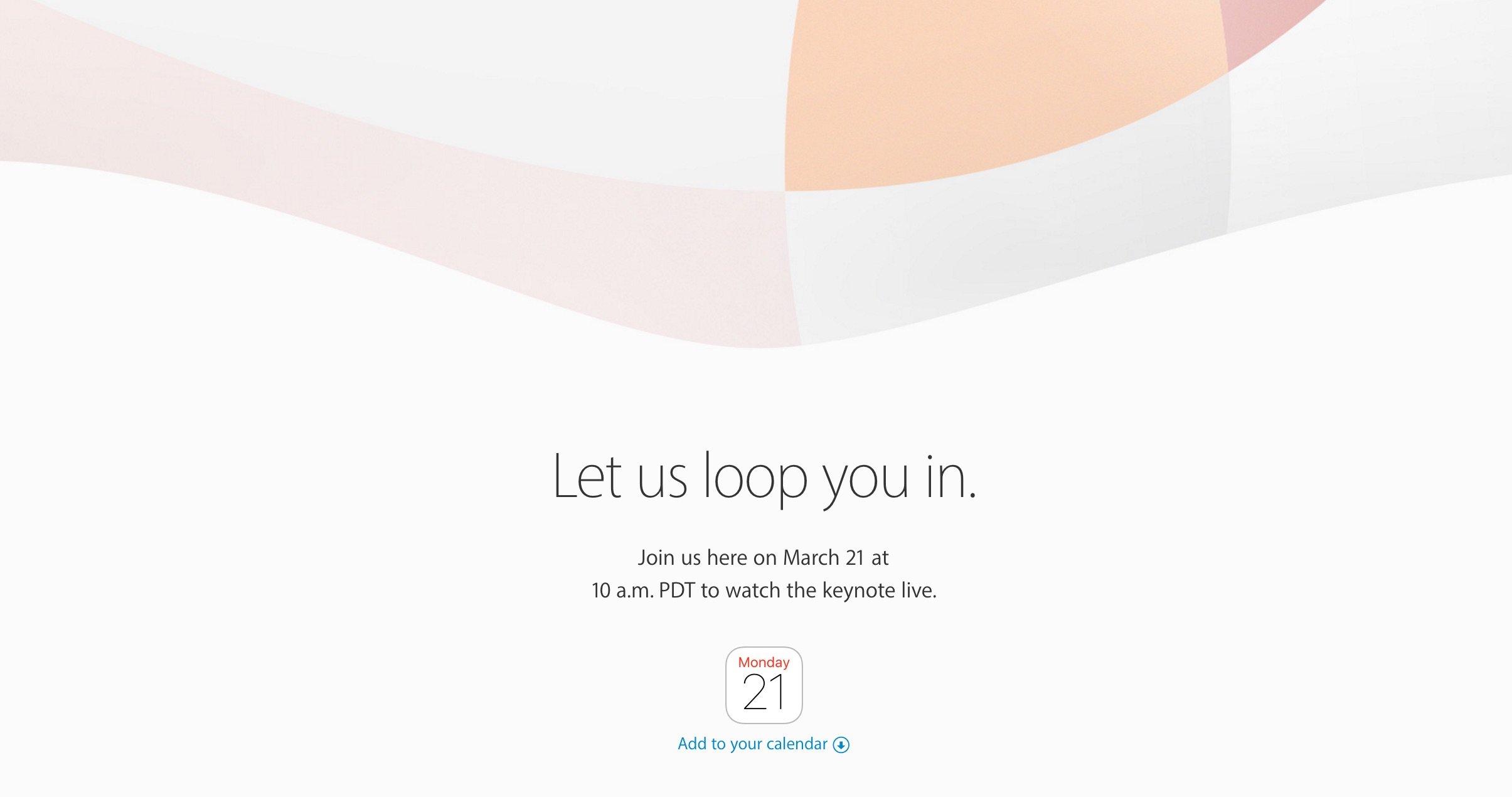 Apple iPhone SE Keynote mit Livestream 21.03.2016 bestätigt 1