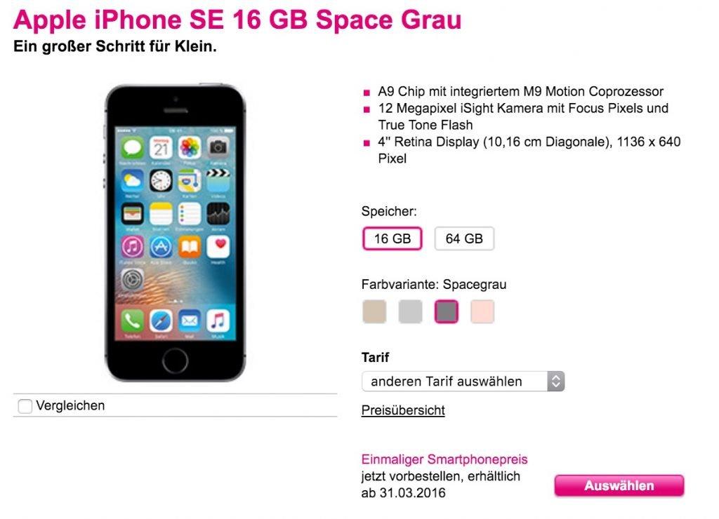 Iphone Se Bei Telekom Vorbestellen Iphone Se Fast 300 Billiger Als