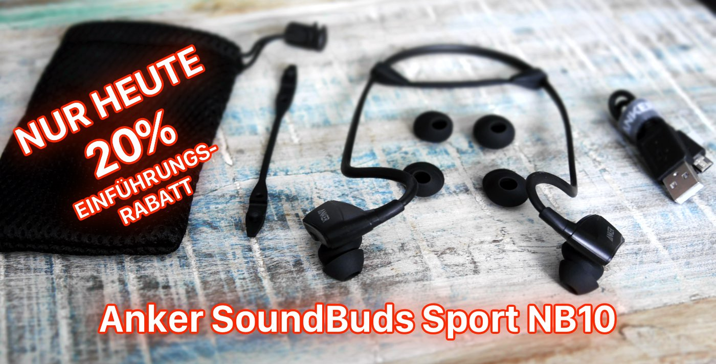 Anker SoundBuds Sport NB10: wasserfestes Bluetooth Fitness Headset 6
