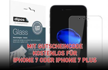 iPhone 7 (Plus) Displayschutz kostenlos mit Gutscheincode 14