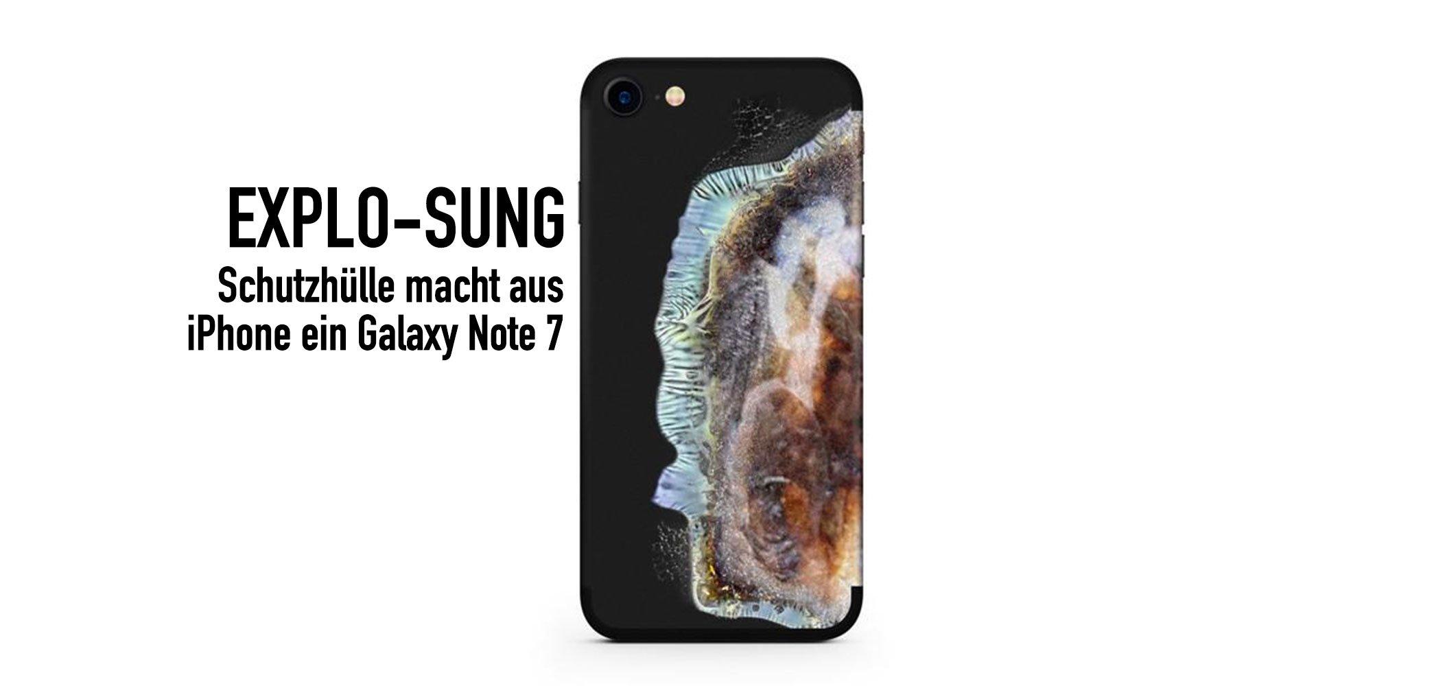 Explo-Sung Hülle macht aus iPhone 7 ein explodiertes Galaxy Note 7 9