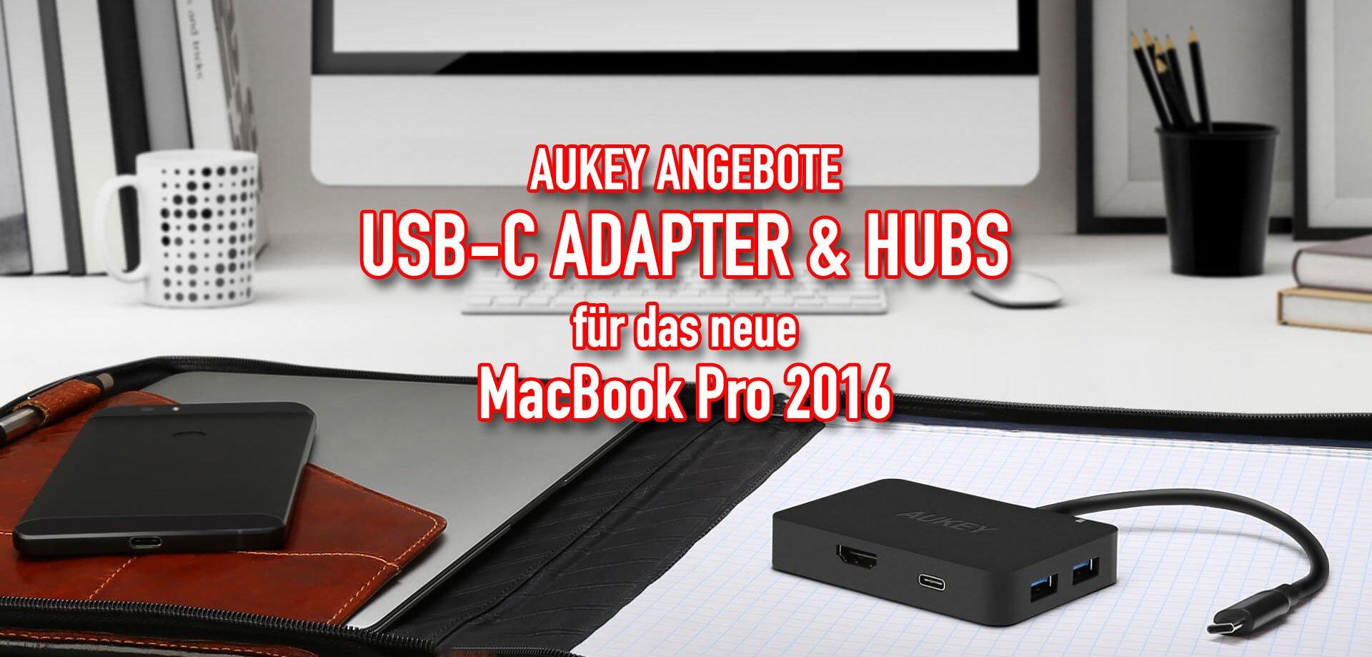 Aukey: günstige USB-C Adapter & Hubs fürs neue MacBook Pro 2016 4