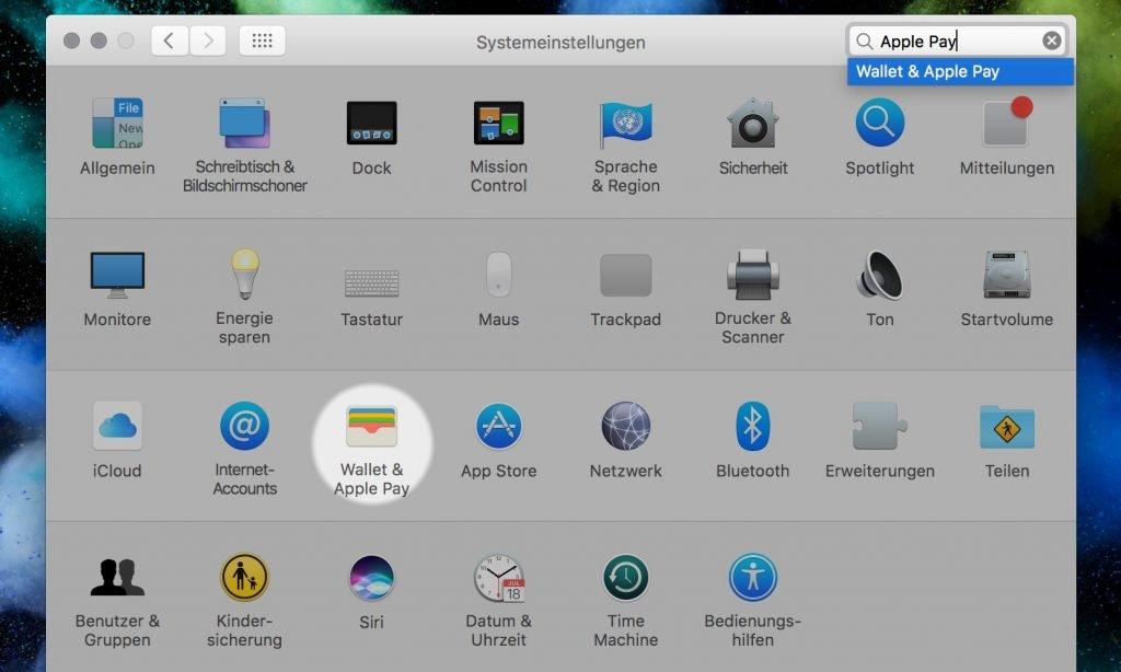 Apple Pay Einstellung taucht auf deutschen Macs auf! 2