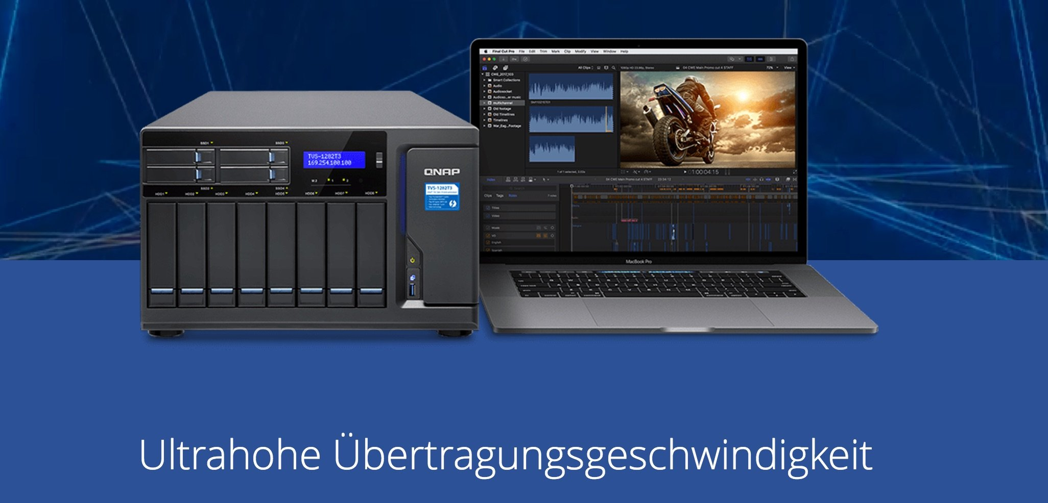 QNAP Thunderbolt 3 NAS mit 40 Gbps über USB-C 1