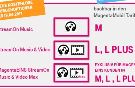StreamOn: kostenlose Telekom Musik & Video Streaming Flat kommt 10