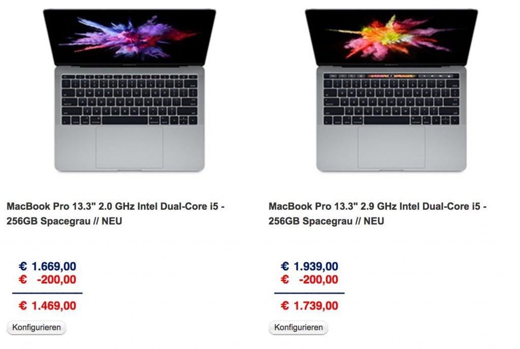 apple macbook pro billiger kaufen bis zu 299 rabatt bei. Black Bedroom Furniture Sets. Home Design Ideas