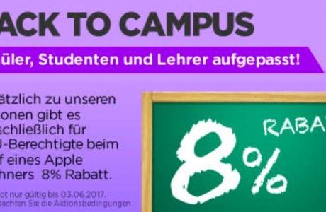 MacTrade: 8% Apple EDU Studentenrabatt für Schüler, Studenten & Lehrer 8