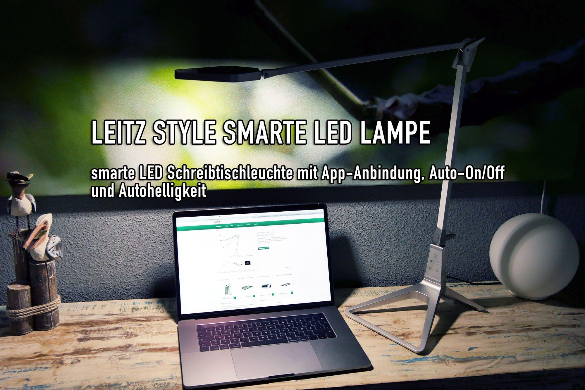 leitz style smarte led schreibtischleuchte mit app steuerung usb ladeger t. Black Bedroom Furniture Sets. Home Design Ideas