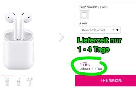 Apple AirPods bei Telekom sofort lieferbar (Lieferzeit nur 1-4 Tage) 8