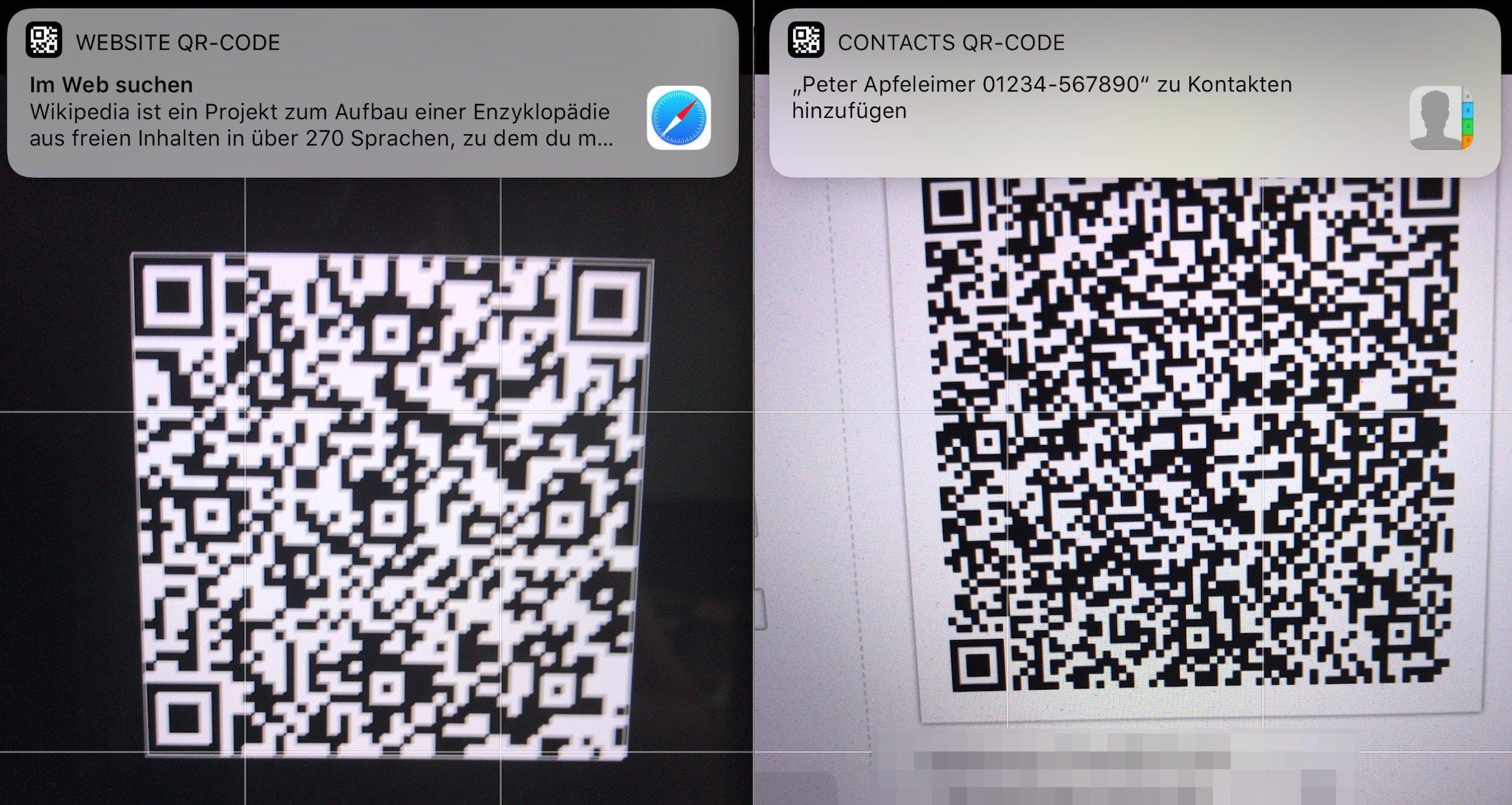 Ios 11 Qr Code Scanner In Kamera App Integriert