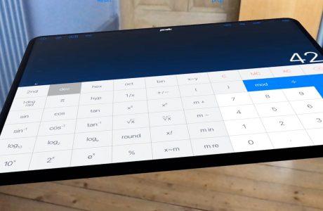 """PCalc: """"Bester Taschenrechner für iOS"""" im virtuellen Raum mit iOS 11 ARKit 2"""