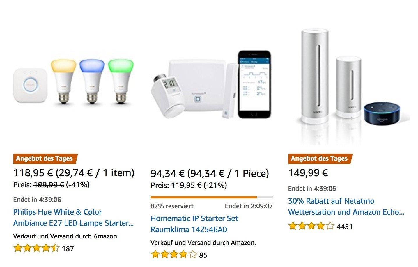 Smart Home Angebote Homematic Amp Philips Hue Starterset Netatmo Osram Lightify Gigaset