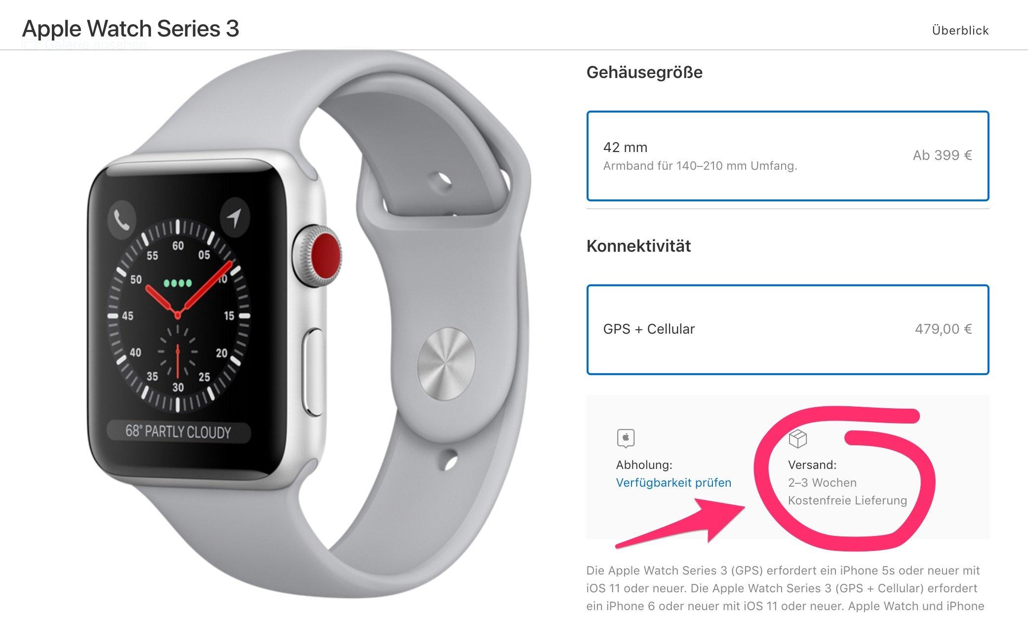 Apple Watch Series 3 mit LTE : Voller Erfolg & schon vergriffen? 1