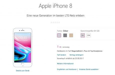 iPhone 8 (Plus): Preise & Vorbestellung bei Telekom 5