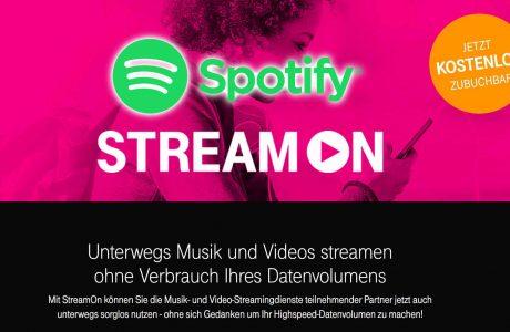 Telekom StreamOn: Spotify endlich inklusive (ohne Anrechnung aufs Datenvolumen) 5