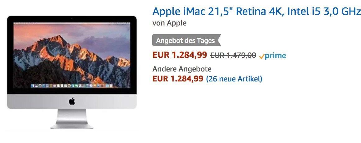 Heute günstiger: Neue 4K / 5K iMacs & MacBook Pro mit Touch Bar bei Amazon! 1