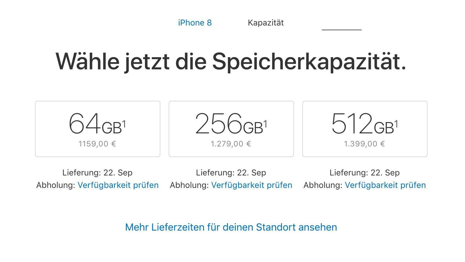 Deutsche iPhone 8 Preise: 64 GB ab 1159 Euro in Deutschland 1