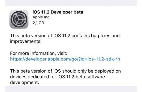 iOS 11.2: Apple verteilt erste iOS 11.2 Beta (watchOS 4.2, tvOS 11.2) 2