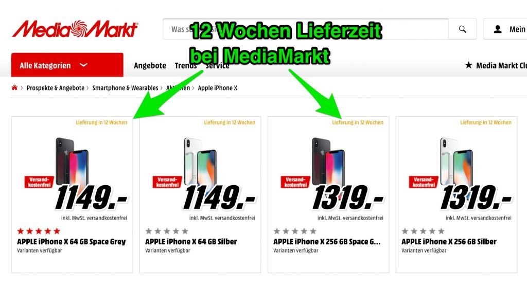 iphone x bei saturn mediamarkt vorbestellen lieferung. Black Bedroom Furniture Sets. Home Design Ideas