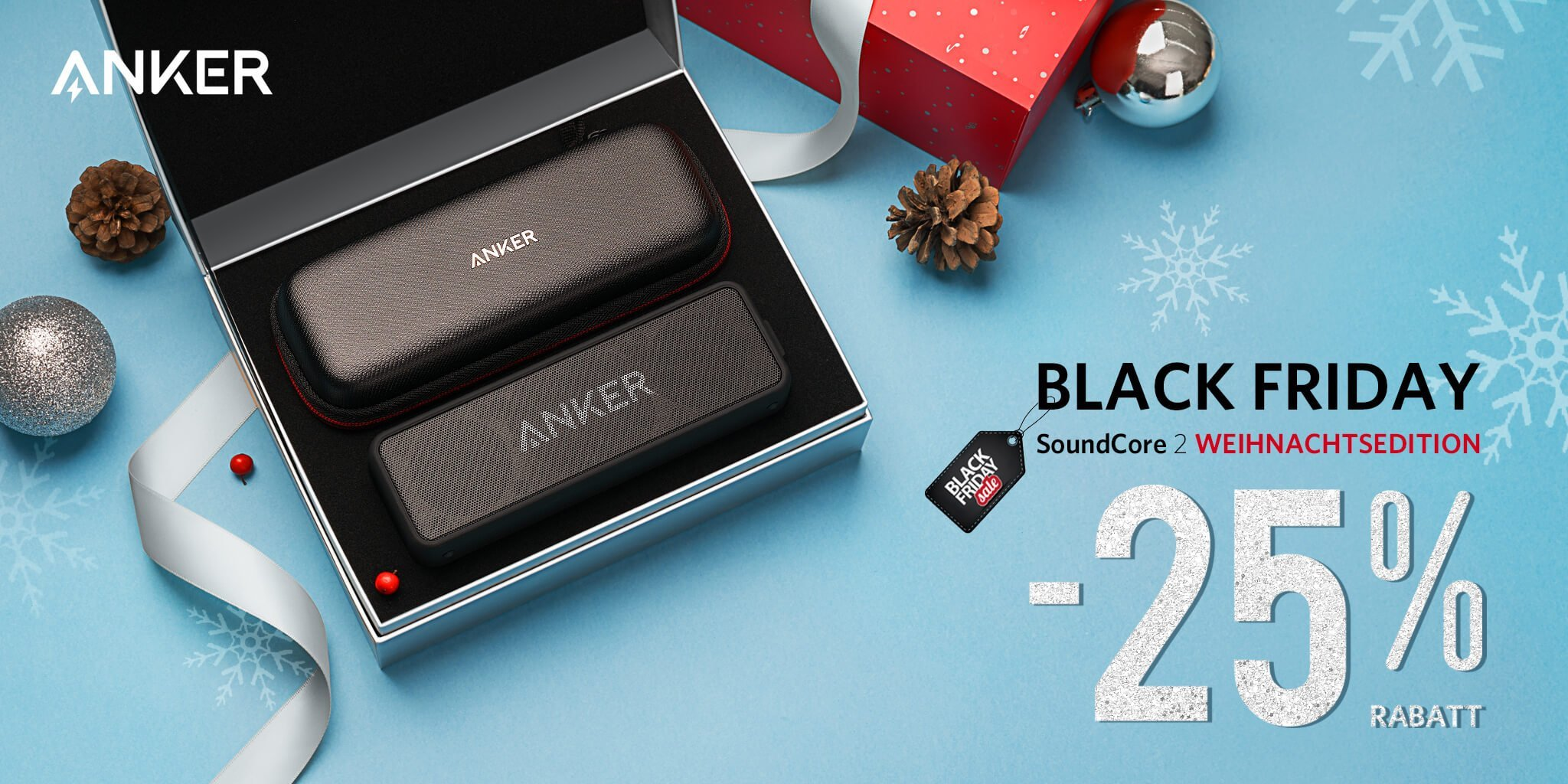 Anker Aktion: SoundCore 2 Special Weihnachtsedition 25% billiger! 1