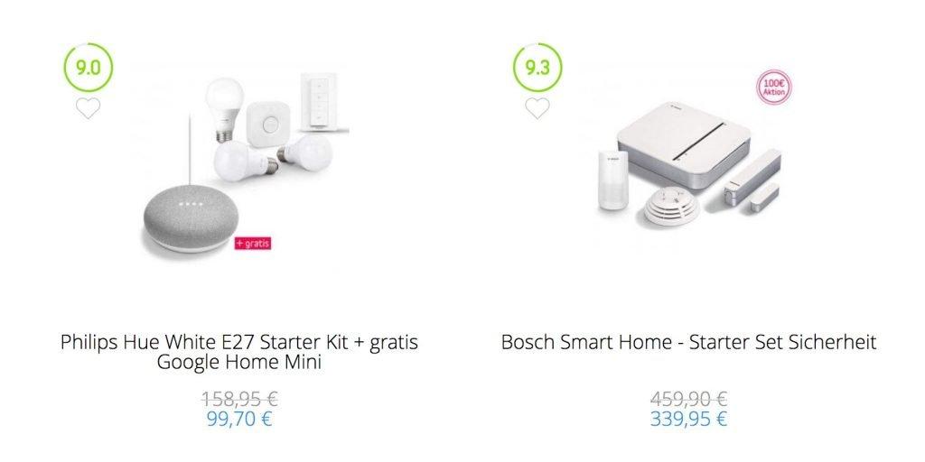 Smart Home Günstiger Philips Hue Nest Bosch Google Home Netatmo