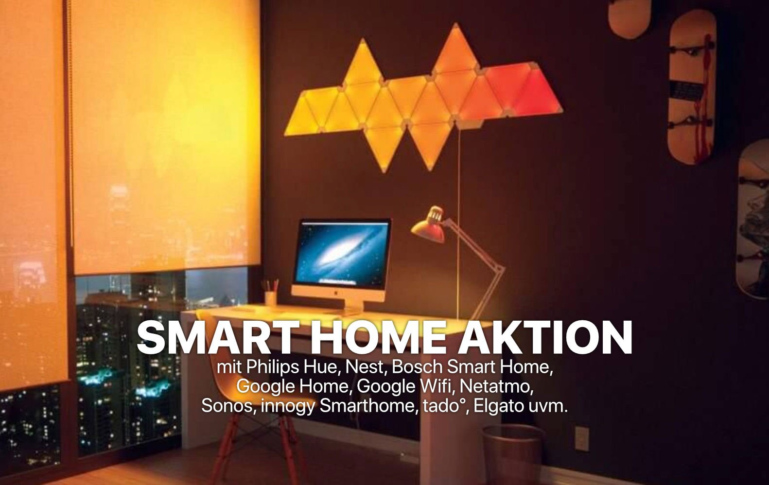 smart home g nstiger philips hue nest bosch google home netatmo sonos innogy tado. Black Bedroom Furniture Sets. Home Design Ideas