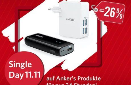 Single-Day: Anker Powerbank & Ladegerät für je 11,11 € 9