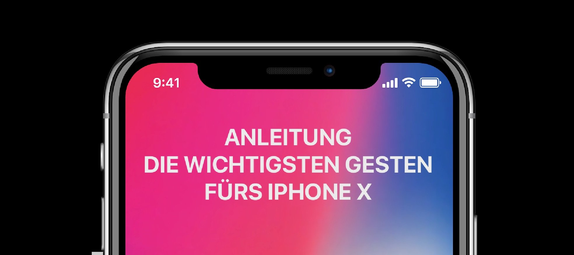 iphone x anleitung die wichtigsten touch gesten. Black Bedroom Furniture Sets. Home Design Ideas