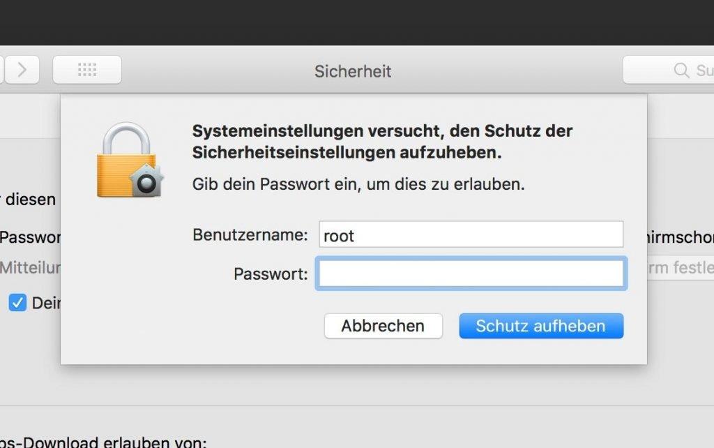 Schwere Root-Lücke in macOS High Sierra: Admin-Rechte für alle?