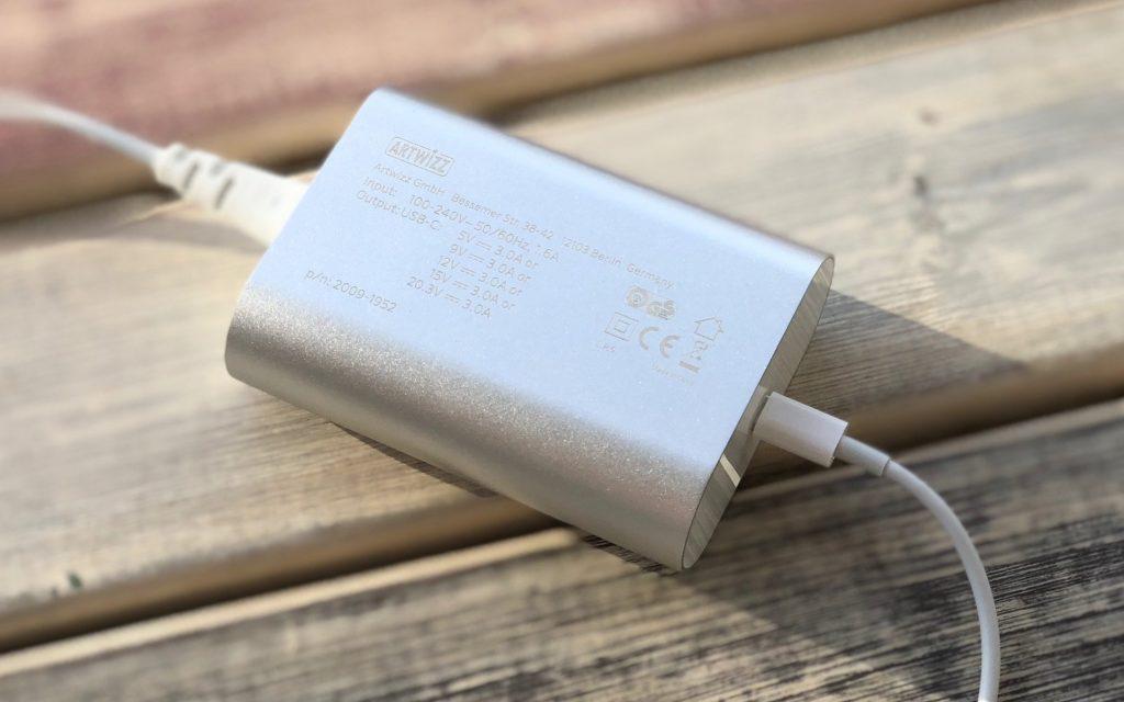 Artwizz PowerPlug USB-C 61W: Schnelllade-Netzteil für iPhone X, iPhone 8, MacBook & MacBook Pro 2016 2