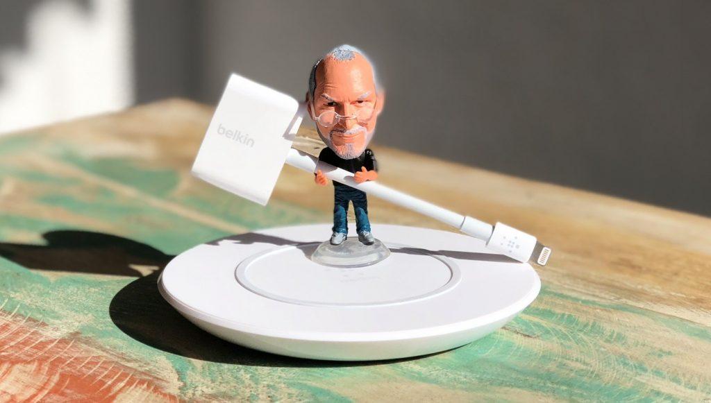 Belkin Boost Up Qi Wireless Charging Ladegerät für iPhone & Belkin RockStar Lightning Kopfhörer Adapter