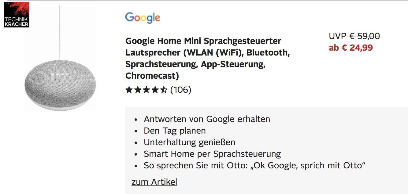 Google home mini angebot otto