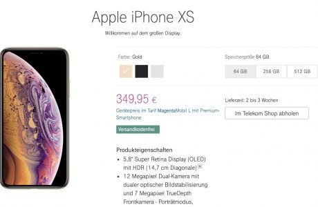 iPhone XS bei Telekom: deutlich günstiger mit Smartphone statt Top- oder Premium-Smartphone 2