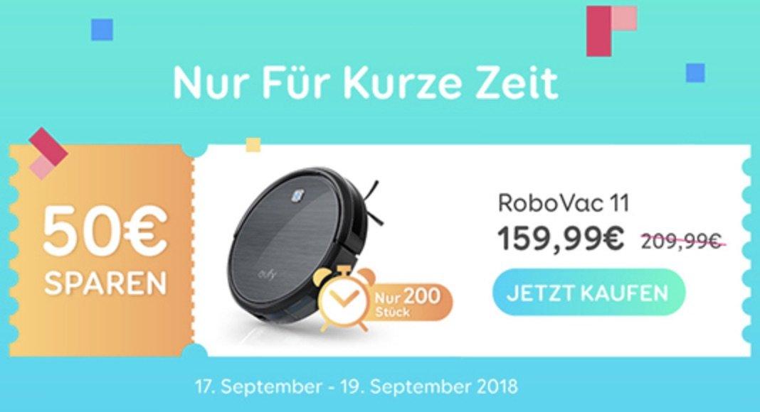 Staubsaugroboter für 159,99€ - Eufy RoboVac 11 Aktionsangebot 1
