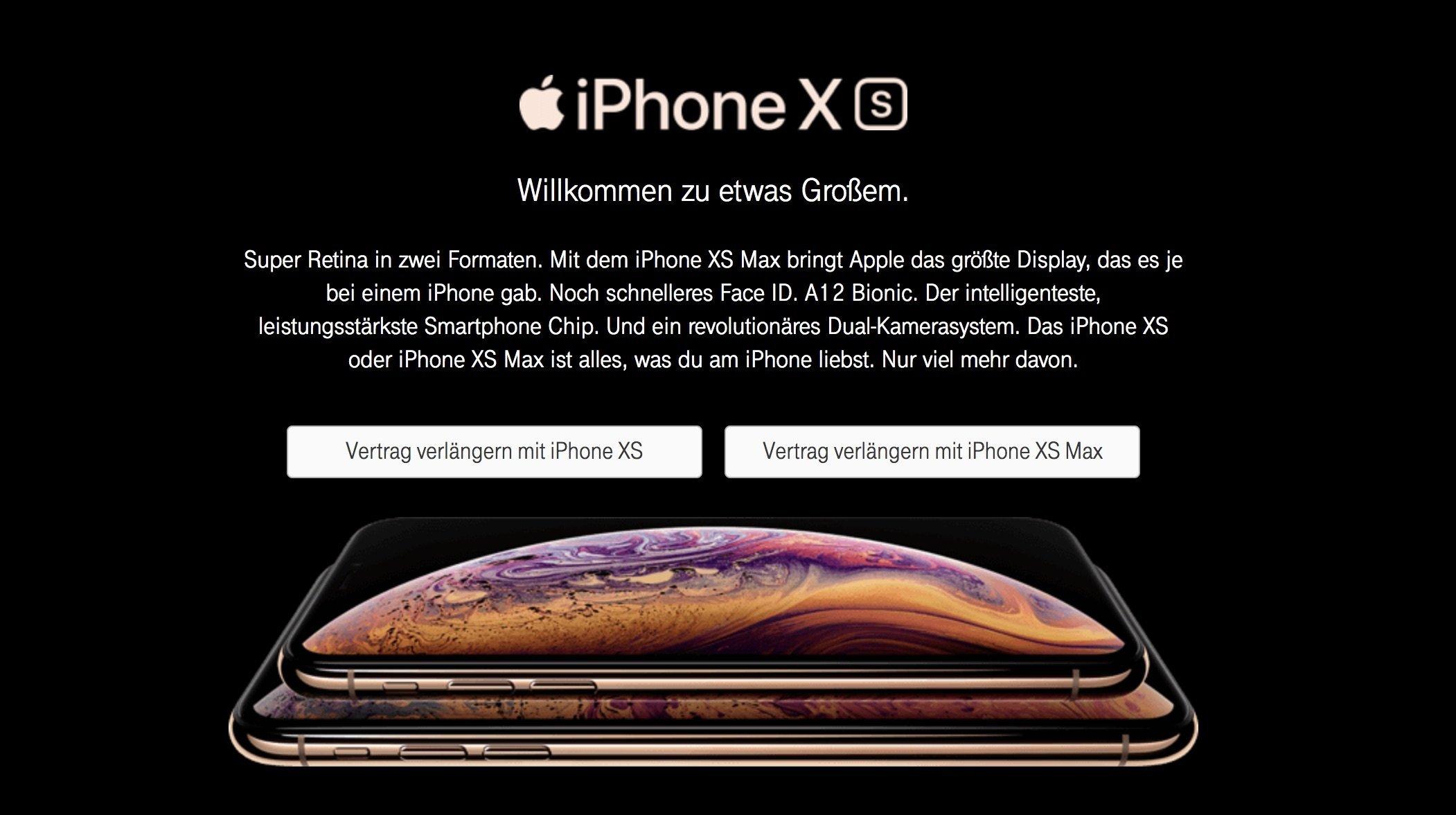 Telekom Vertragsverlängerung (VVL) mit iPhone XS (Max) 4
