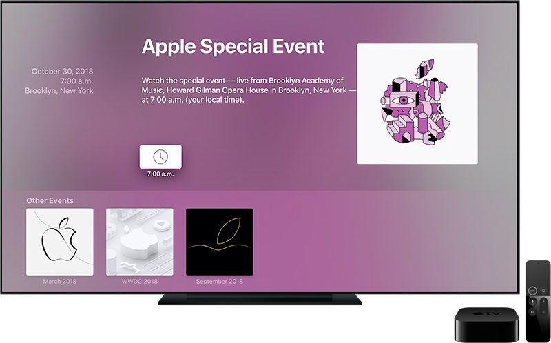 Apple TV: Events-App vor Keynote mit Update 1