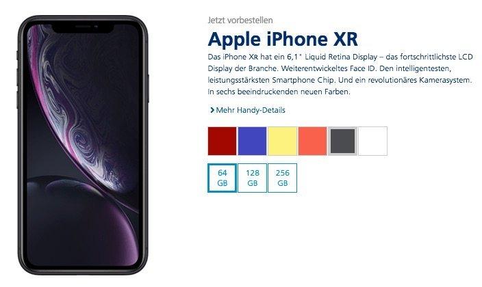 iPhone XR bei O2 für 1 Euro mit Vertrag jetzt bestellen 2